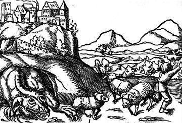 The Wawel dragon - Sebastian Münster's Cosmographie Universalis (1544)