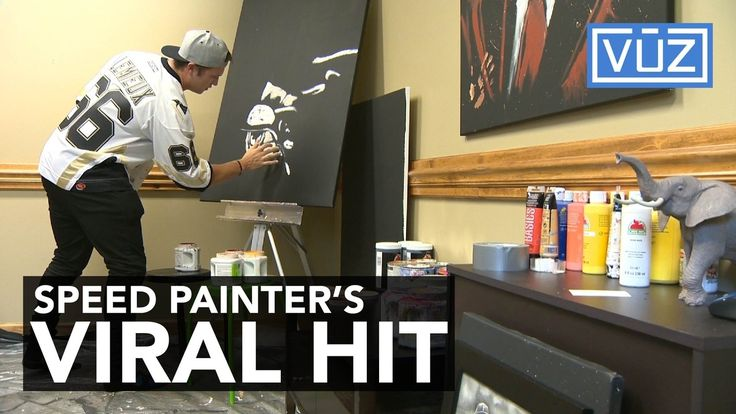 """""""Speed Painter"""" Cody Sabol's artwork is getting popular very quickly thanks to a recent viral post on social media."""