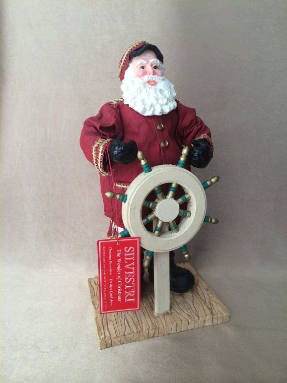 Santa Sea Captain Silvestri Figurine Vintage Christmas