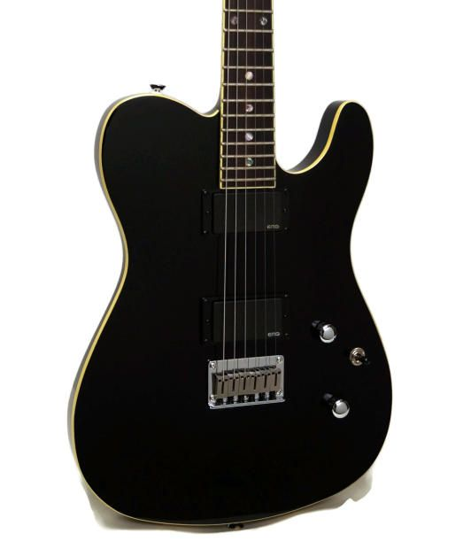 Fender FSR Custom Telecaster HH Electric Guitar w/ EMG Pickups - Black | Reverb