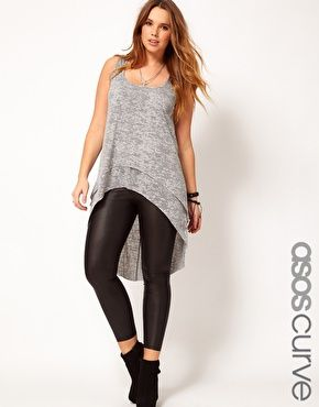 I really want to be able to wear these leggings! must try on! lol    ASOS CURVE Exclusive Matte Legging