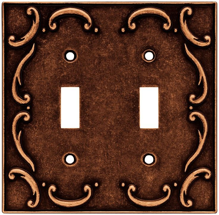 brainerd 64262 traditional french lace double switch wall plate switch plate cover sponged - Decorative Switch Plate Covers