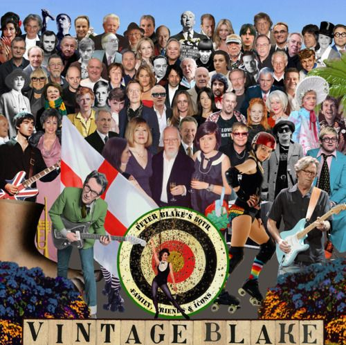 """New Album Cover.  British pop artist Sir Peter Blake has taken inspiration from his most famous artwork – the Beatles Sgt Peppers Lonely Hearts Club album cover – to celebrate the British cultural figures he most admires as he marks his 80th birthday.  """""""