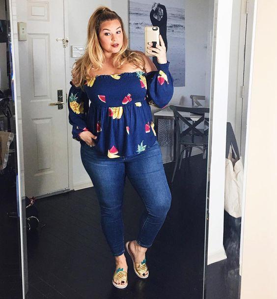 4fe789d71b1f7 Outfits de moda para chicas plus size con jeans, ideas para crear Outfits  de moda para chicas plus size de moda, Outfits con blusas de moda para  gorditas ...