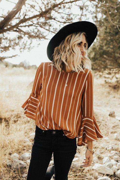 Ana Stripe Blouse | fall fashion