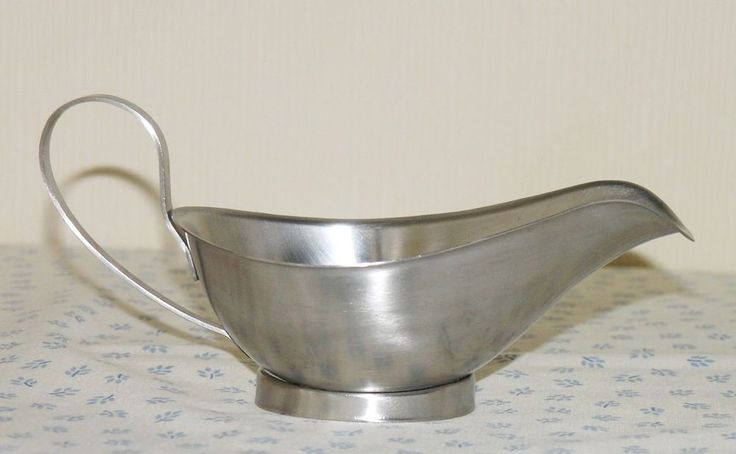 Vtg Viners Houseware International sauce gravy boat 18-8 satin stainless steel
