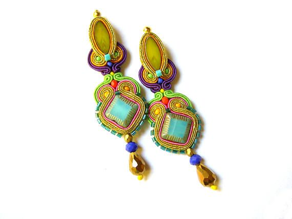 Soutache Earrings  Tallulah