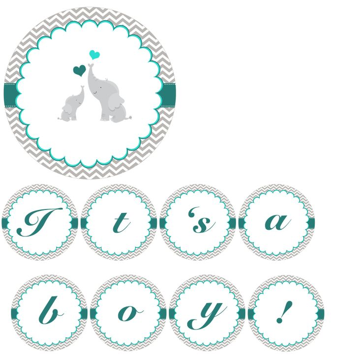 INSTANT DOWNLOAD Its A Boy Baby Shower Banner  Grey by pinkthecat, $6.00
