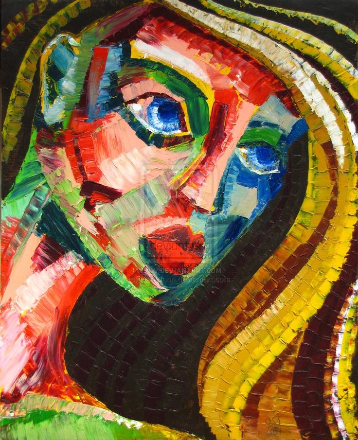 Expressionistic Face by OsaWahn.deviantart.com