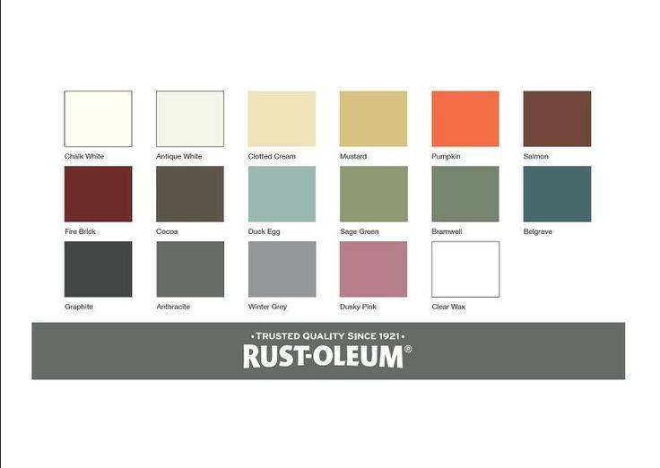 Image result for rust oleum chalk paint colours chart