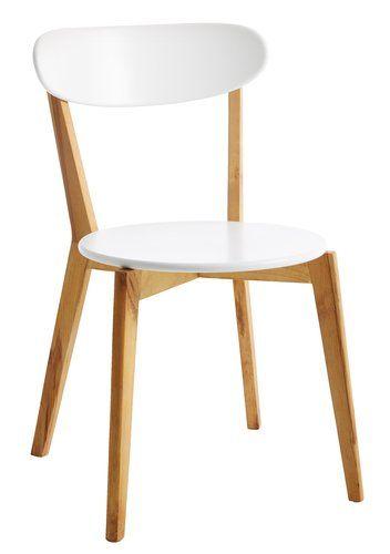 Jídelní židle JEGIND přírodní/bílá | JYSK