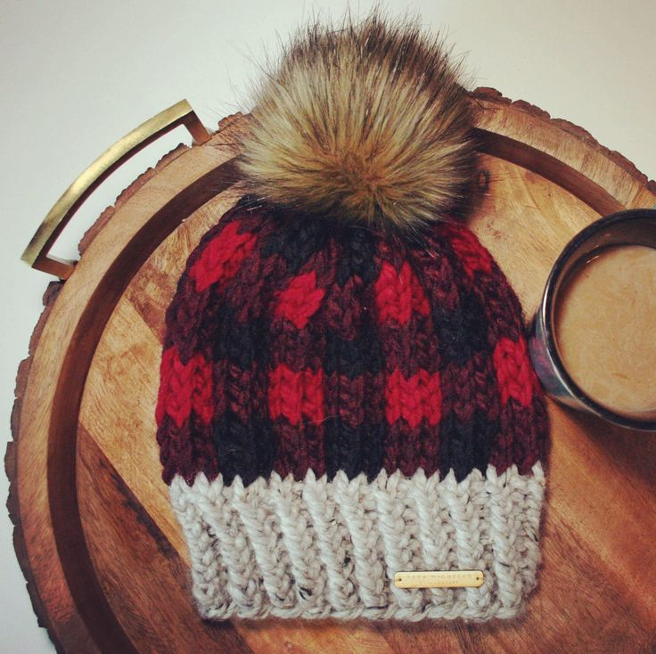 Excited to share the latest addition to my #etsy shop: Buffalo Plaid, True North Toque, Plaid Beanie, Plaid, Beanie, Lumberjack, True North Beanie, faux fur pom pom #accessories #hat #red #saramicheles