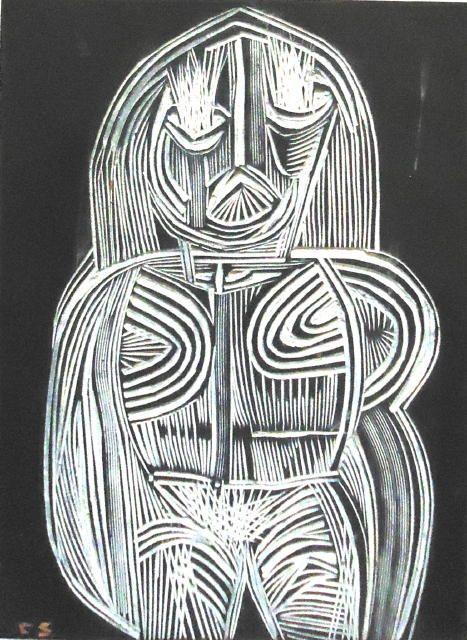 Cecil Skotnes - engraved block no. 3