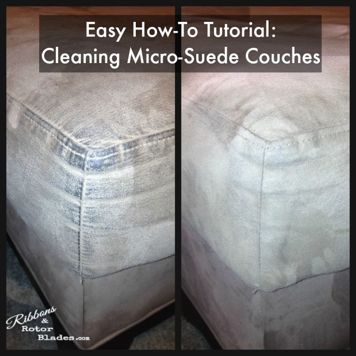 Ribbons and Rotor Blades: Cleaning Micro-Suede Couches