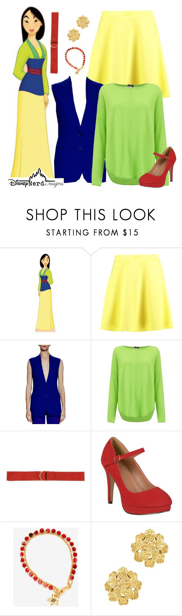 """""""Why Is My Reflection Someone I Don't Know?"""" by disney-nerd-designs ❤ liked on Polyvore featuring Boohoo, STELLA McCARTNEY, Cocoa Cashmere, Carla G., Journee Collection, London Road, Disney, disney, disneybound and mulan"""