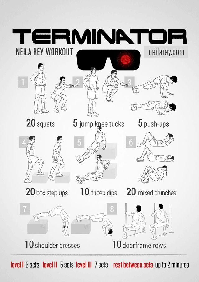 terminator workout routine - Google Search