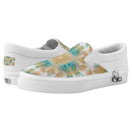 #Ethnic national ornament Slip-On sneakers - #womens #shoes #womensshoes #custom #cool