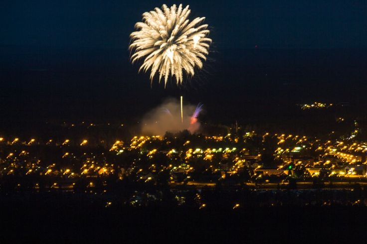 Fireworks over Malung by Carl Hult