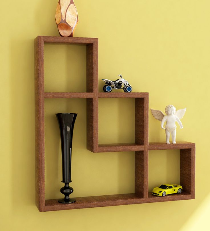 l shaped wall shelf by home sparkle online wall shelves home decor pepperfry product. Black Bedroom Furniture Sets. Home Design Ideas