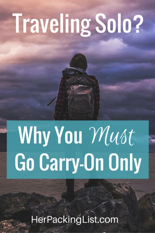 Traveling with less is the name of our game, but did you know all of these reasons why solo female travelers especially should travel carry-on only?