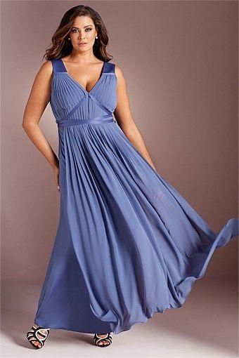 Dresses - Grace Hill Woman Pleat Front Maxi Dress