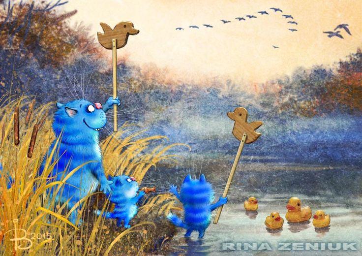 Сообщество иллюстраторов / Иллюстрации / Рина З. / Они летят!..