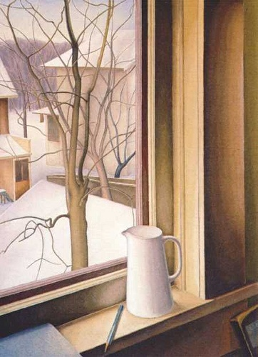 Lionel Fitzgerald, From an Upstairs Window, Winter - c.1950-51, via Flickr.
