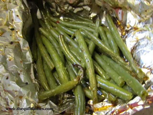 The Quilt Ladies Home: Green Beans on the Grill