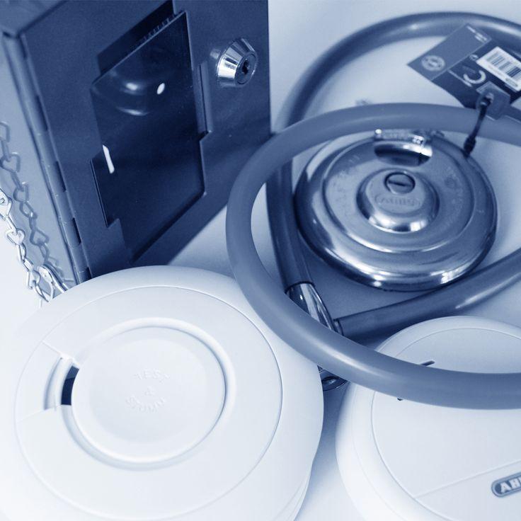 Briefkästen / Briefkastenanlagen · Elektronische Schließsysteme / Zutrittskontrolle · Elektrische Türöffner · Feststellanlagen · Fluchtwegsicherung / Rettungswegtechnik · Haussicherheit · Hinweisschilder · Sicherheitsschlösser · Schließzylinder mechanisch · Schlüsselschränke / Geldkassetten · Tresore / Waffenschränke · Vorhangschlösser · Warnmelder · Zweiradschlösser / Sicherungsketten