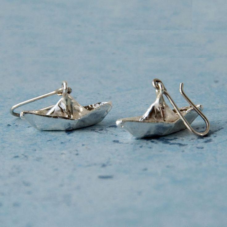 """Купить Серьги """"Бумажные кораблики"""" - серебряный, серебро, серебро 925 пробы, серебро 925"""