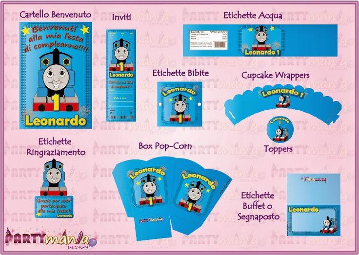 """Festa stampabile a tema """"Trenino Thomas"""" INFO:  partymaniadesign@hotmail.com"""