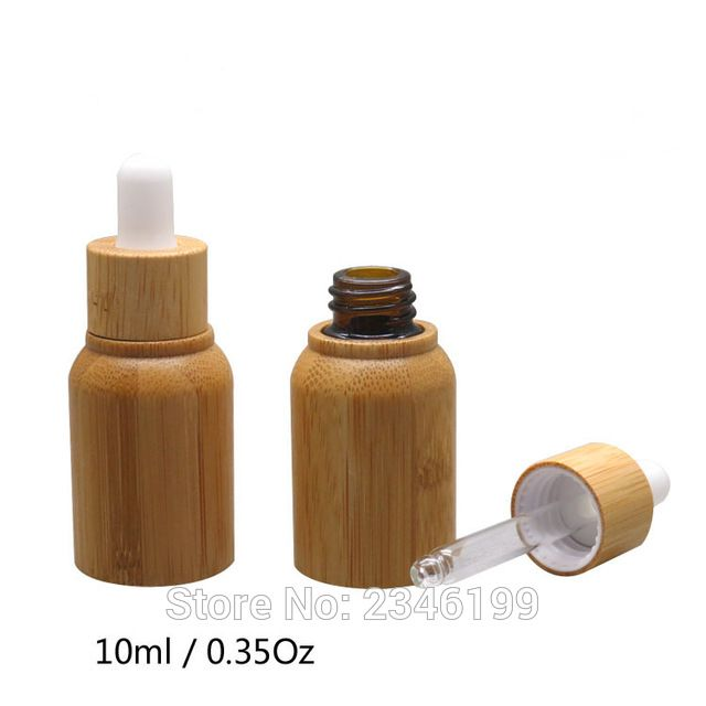 10ml 10pcs Lot Empty Bamboo Cosmetic Dropper Bottle Diy Elegant Essential Oil Container B Aromatherapy Perfume Essential Oil Containers Essential Oil Bottles