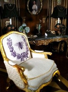 Miniature French Bergere by June Clinkscales | eBay: Unique Dollhouse