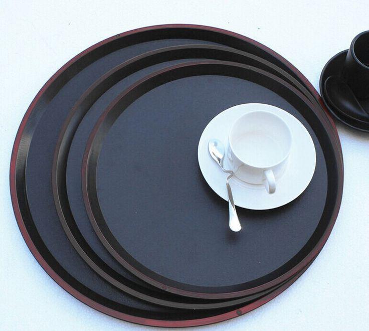 Лоток пластмассы круглой пластины чайный поднос фаст-фуд лоток номеров диск ресторан лоток фрукты 31.8 см