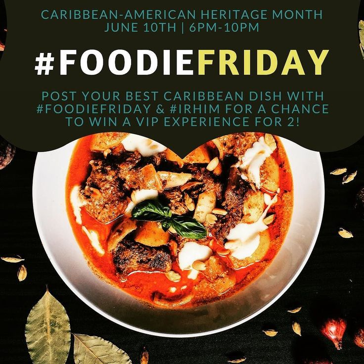 Calling all chefs! Show us your tastiest Caribbean inspired dish on Instagram! Tag @cityofmiramar and use #IRHIM & #FoodieFriday. All contestants will win Miramar Swag and a chance to WIN a VIP Experience Package for 4 to The Grand Opening of #TheMiramarAmp at Miramar Regional Park on July 4th!  #ItsRightHereInMiramar #itsrighthereinmiramar #caribbeanamericanheritagemonth #irhimSwag #VIP #TheMiramarAmp #southflorida #caribbean #food #foodie #chef