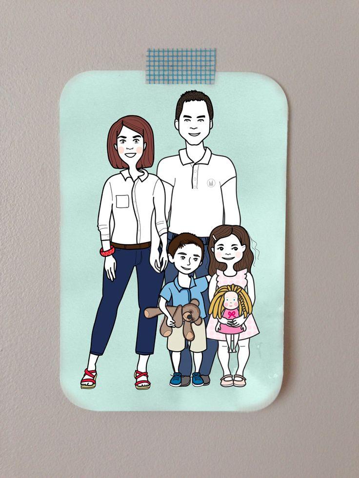 portrait de famille illustré en savoir + : http://www.myzotte.fr/portrait-de-famille-illustre/