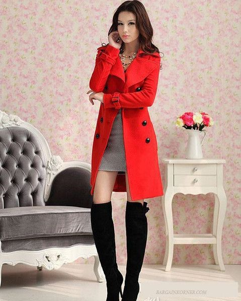 1000  ideas about Red Trench Coat on Pinterest | Red winter coat