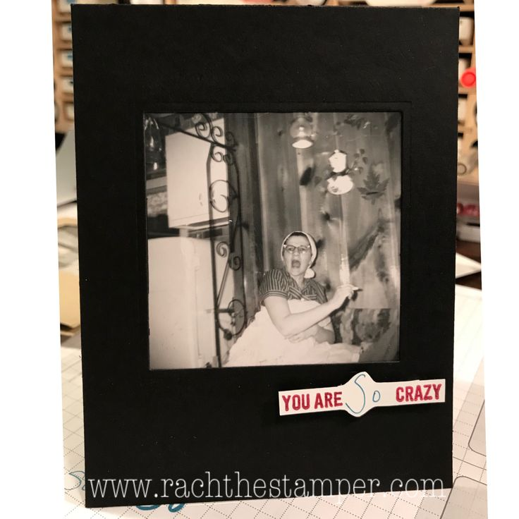 Old Photo Slider card: B & W reigns supreme! , Stampin' Up!