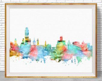 San Francisco Arte San Francisco Skyline la por ArtPrintZone