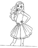 Раскраски Barbie 15