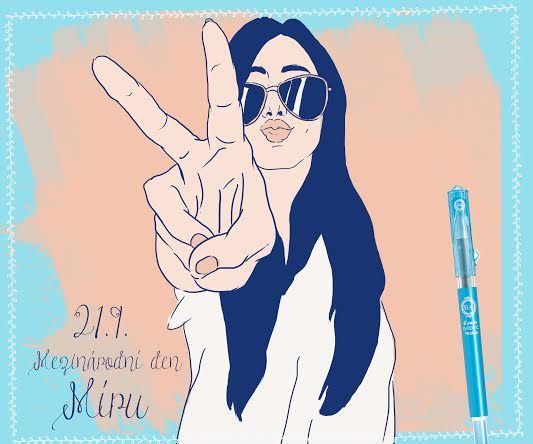 Dnes tě nic nerozhodí! Hoď se do klidu, je den míru! #peace #happywriting (y)