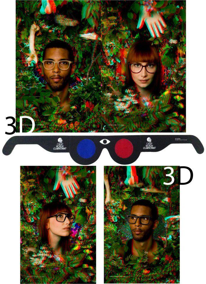 #3D #effect #woods #faces #girls #boys #afro #long #hair #3D #glasses  #hands #green #retro #nice