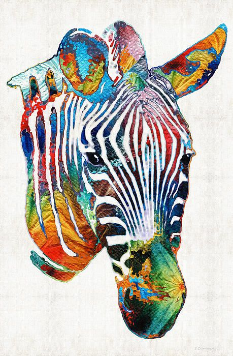 Colorful Zebra Print Nail Art Tutorial: 247 Best ART Animals Images On Pinterest
