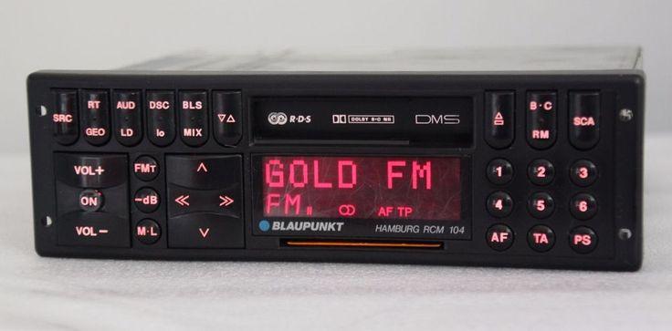 Blaupunkt Hamburg RCM 104 Car Casette FM Player Bmw Audi VW Ferrari Porsche  #Blaupunkt