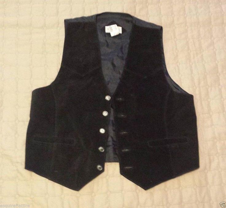 SHEPLERS #leather vest Men Size M (black suede front, nylon back) visit our ebay store at  http://stores.ebay.com/esquirestore
