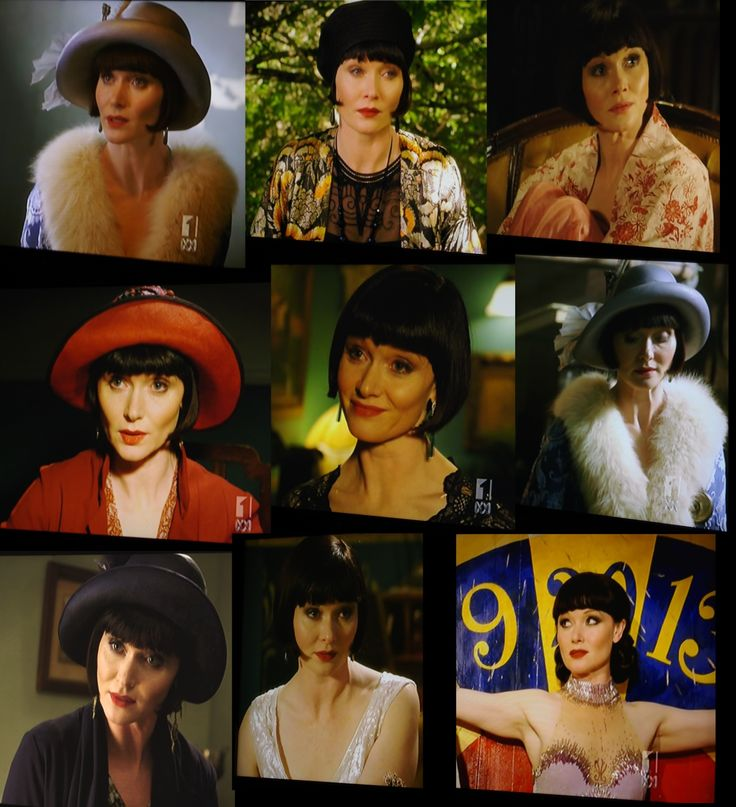 Miss Fisher Composite made from photos of  the TV screen!