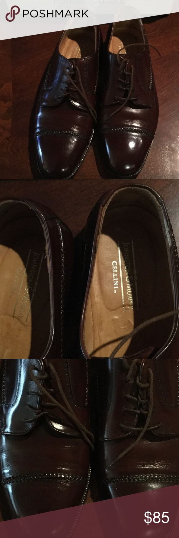 Johnston and Murphy Men's Shoes These shoes were made in Italy the color is call Saddle Tan and they were purchase at the Johnston and Murphy Store Excellent condition Johnston & Murphy Shoes Loafers & Slip-Ons