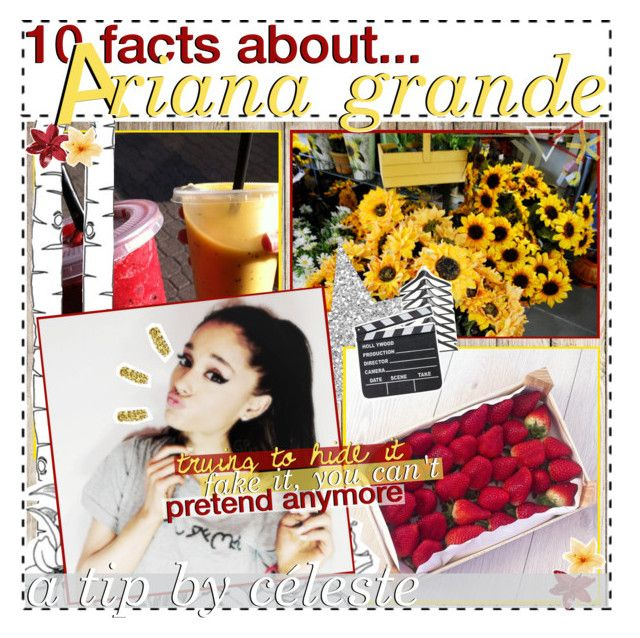 """""""✧ 10 facts about ariana grande!"""" by iconyounot ❤ liked on Polyvore featuring KEEP ME, ferm LIVING, Luli and celestialtips"""