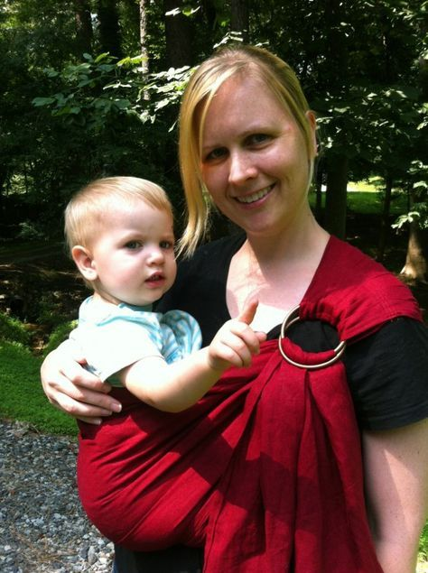 ring sling DIY: I'd use linen so it's not too hot during our FL summers