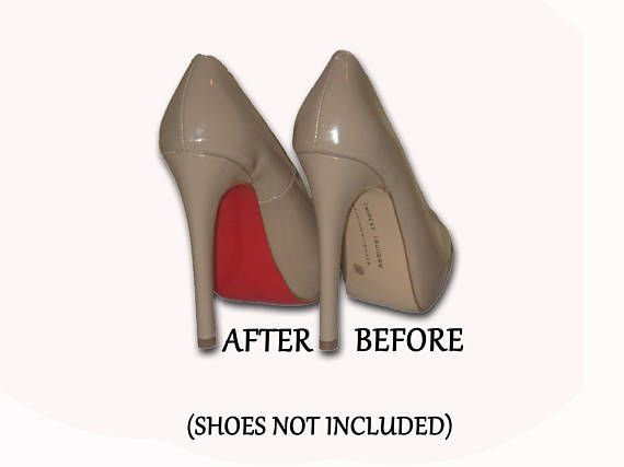 Shoe Bottoms are a shoe accessory designed to work with ANY shoe, ANY style, in ANY size. We use a flexible, adhesive backed strip that, once applied, will transform the look of any high heels. When applied, it will conform to the shape of any sole, and then can be trimmed to fit. In